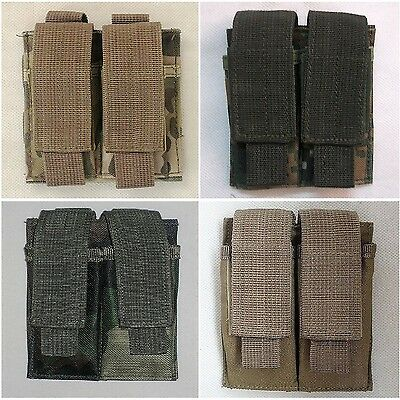 New Airsoft Molle Double 9mm Stack Pistol Magazine Pouch Holster Nylon