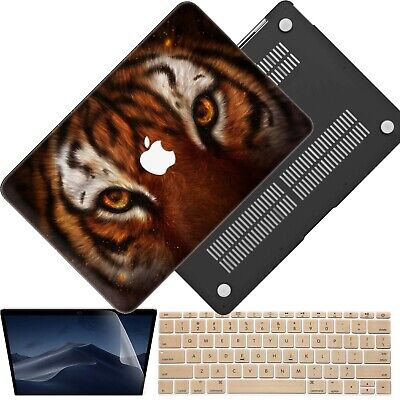 3in1 Tiger Rubberized Hard Case Cover For New Macbook Pro Air 11 12 13 15 Retina ()