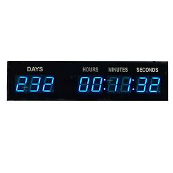 1.8'' Blue Event Timer Large Digital Countdown Clock Exhibition Wall Clock