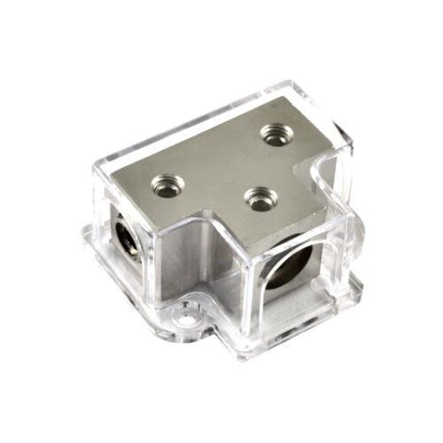 1/0 Gauge Input to 2 x 4 or 8 Gauge Out Power/Ground Distribution Block