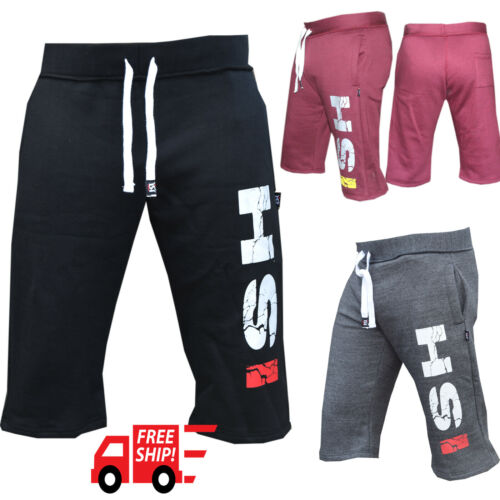 Men's Gym Shorts Jogging Mma Boxing Work Out Training Sweat Casual Fleece Short