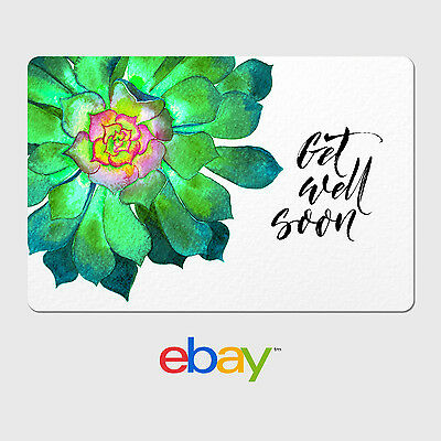 eBay Digital Gift Card - Get Well Designs - Email Delivery