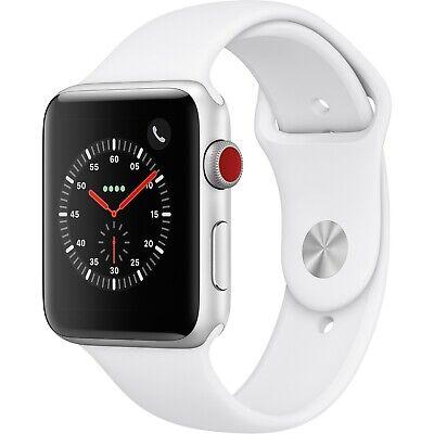 Apple Watch Gen 3 Series 3 Cell 42mm Silver Aluminum - White Sport Band