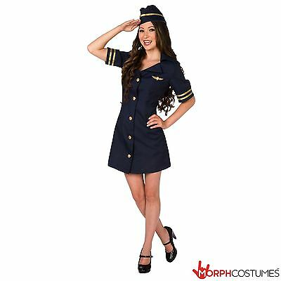 Womens Pilot Fancy Dress Costume Sexy Aviator Ladies Sexy Top Gun Outfit](Gunslinger Outfit)
