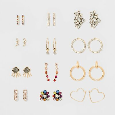 Sugarfix by Baublebar 12 piece Earring The Sparkle Suite Gift Set New Boxed NIB