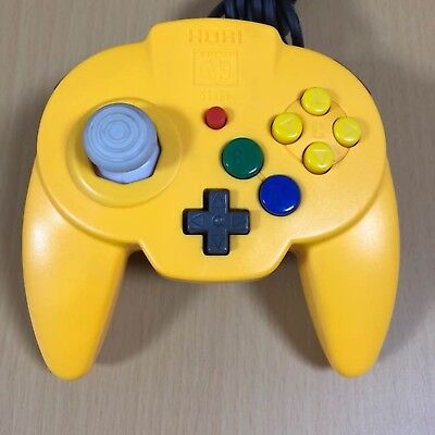 Used HORI Pad Mini 64 Yellow N64 Controller Nintendo F/S Japan