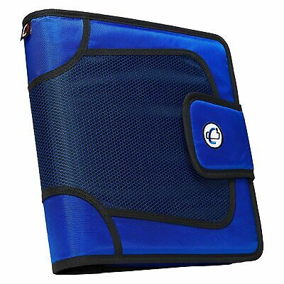 The Open Tab 3-ring Binder 3 Capacity Adjust Velcro 5 Color Tabs Blue