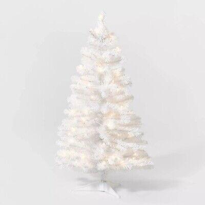 Wondershop- 3.5ft Pre-Lit White Alberta Spruce Artificial Tree Clear Lights #34