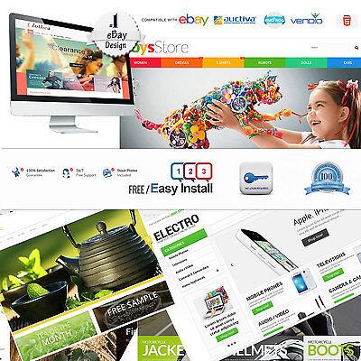 Ebay Store Design & Listing Template Professional Fully Custom 2017 Responsive