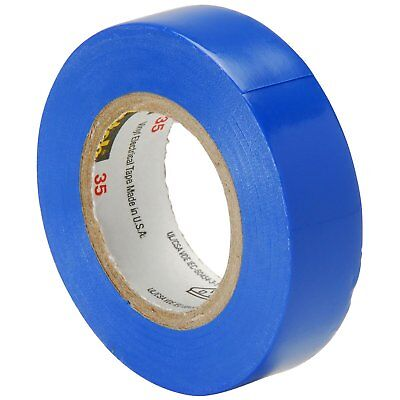 Scotch Vinyl Color Coding Electrical Tape 35 12 In X 20 Ft Blue