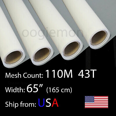 3 Feet 65 Wide Silk Screen Printing Mesh Fabric 110m 43t Polyester 36 L