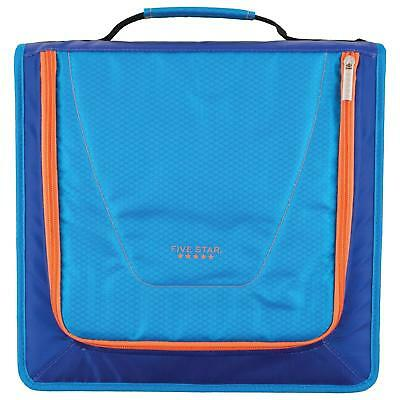 Five Star 2 Zipper Binder 530 Sheet Capacity Built Strong Blue Orange Color