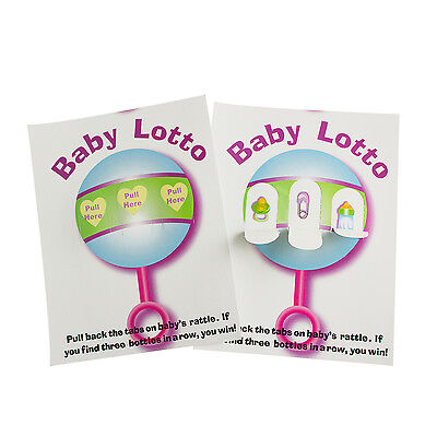 BABY LOTTO Pickle Cards Baby Shower Fun Party Games 48 Cards Lottery Raffle (Baby Shower Bingo Cards)