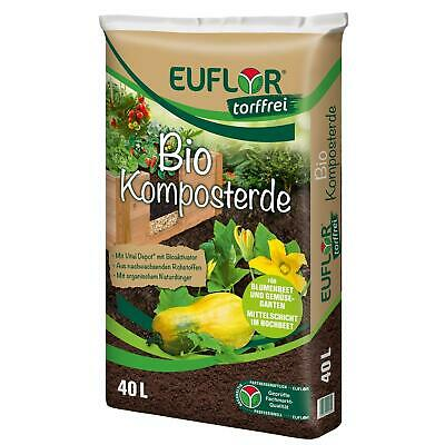 EUFLOR BIO Komposterde mit organischem Naturdünger torffrei, 40 Liter