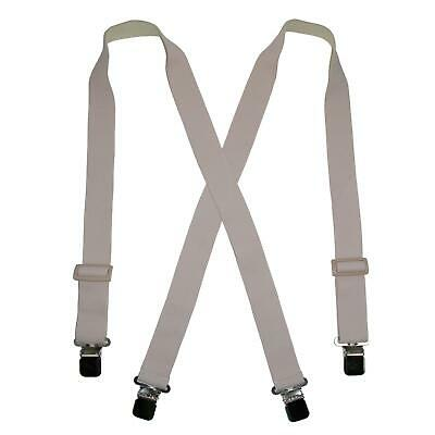 New CTM Men's Elastic Clip-End Undergarment Suspenders