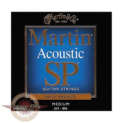 Brand New Martin Msp3200 Sp 80 20 Bronze Medium Acoustic Strings  013  056