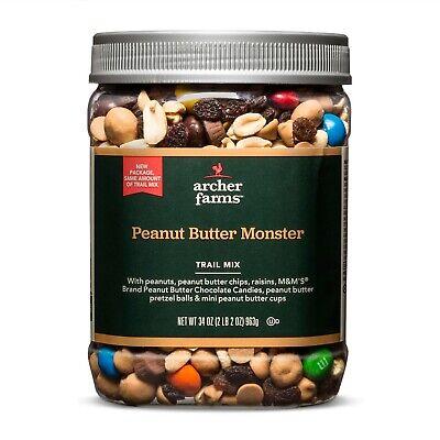 Archer Farms Peanut Butter Monster Trail Mix - 34 oz Plastic Jar