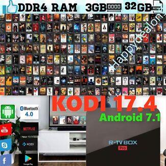NEW ANDROID 7.1 KODI 17.4 OCTA CORE & 3GB DDR4 RAM 32 GB ROM