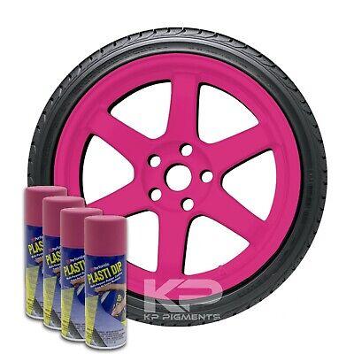 Performix Plasti Dip Fierce Pink Aerosol Spray Cans 11 Oz. 4 Pack Wheel Rim Kit