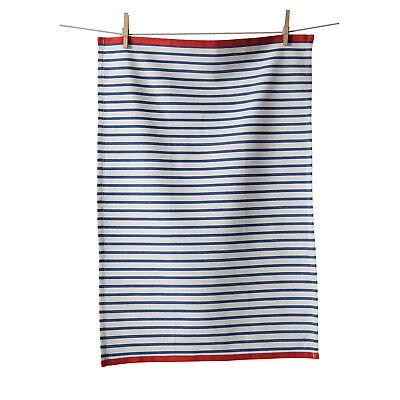 KAF Home Hampton Stripe Kitchen Towel, Bijou Blue