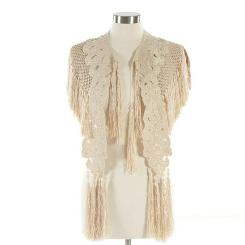 Amazing Victorian Silk Knit Shawl with Hand Embroidery and Hand Knotted Fringe