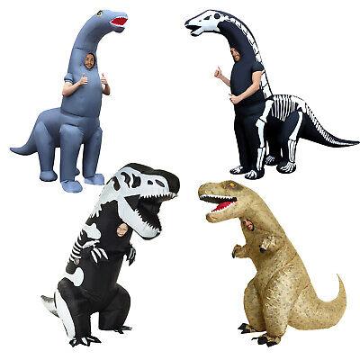 Aufblasbares Skelett T Rex Dinosaurier Kostüm Erwachsene oder Kinder Karneval
