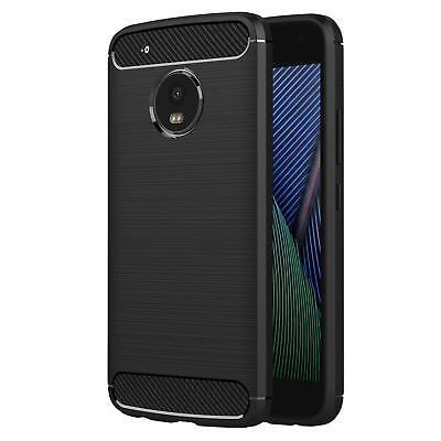 Funda Para Motorola Moto G5 Plus Handycarbon Protector Silicona Carcasa Móvil