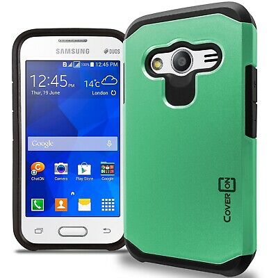 for Samsung Galaxy Ace NXT Case - Teal / Black Slim Rugged Armor Phone Cover for sale  Shipping to India