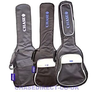 Chase-Guitar-Bag-Electric-Acoustic-Classical-Bass-Gig-Case-5-10-20-mm-Padded