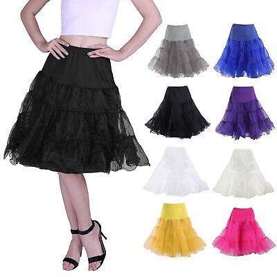 50s Skirt (50's Vintage Rockabilly Petticoat Swing Dress Underskirt A-Line Tutu Slip)