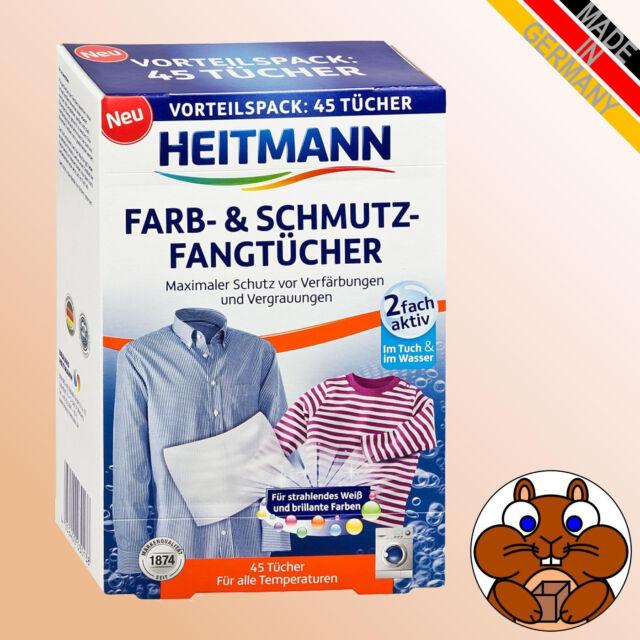 1x HEITMANN Farb u Schmutzfangtücher 45 Stück Vorteilspack Farbfangtücher Wäsche