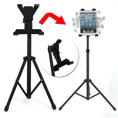 "Adjustable Tripod Stand Holder Bracket For iPad 1 2 3 7""-13"" Tablet FLOOR MOUNT"