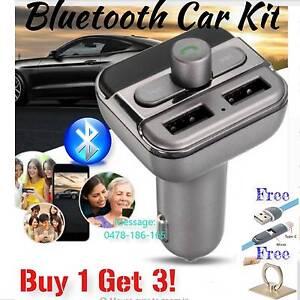 Bluetooth Auto Car Kit Wireless FM Transmitter Dual USB Charger A Melbourne CBD Melbourne City Preview