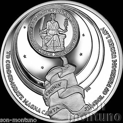 MAGNA CARTA SIGNING - 800th Anniversary - 2015 Ascension Island CuNi DISHED  COIN 4a67854c09a1