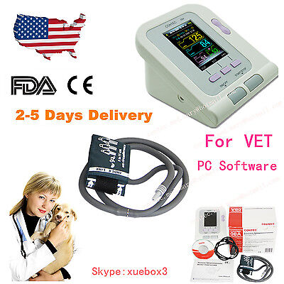 Us Seller Vet Veterinary Digital Blood Pressure Monitornibpvet Cuff Contec08a