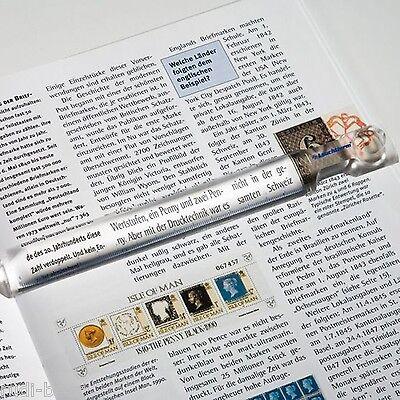 Lupenlineal Leselineal mit 2,5 facher Vergrößerung  ideal zum lesen von Tabellen