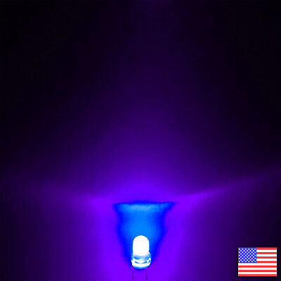 10x 10pcs 3mm Round Uv Led Ultraviolet Purple Bright -us Seller -free Shipping