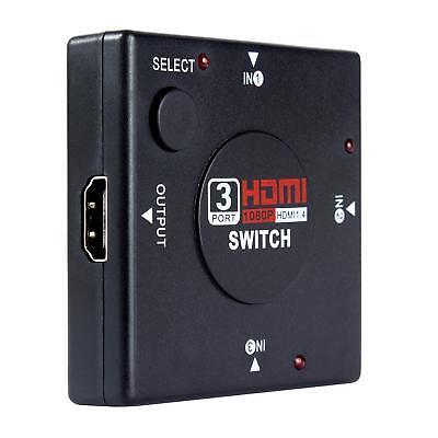 3 Fach HDMI 1.4 Port Verteiler Switch Erweiterung Splitter Umschalter Adapter 3D ()