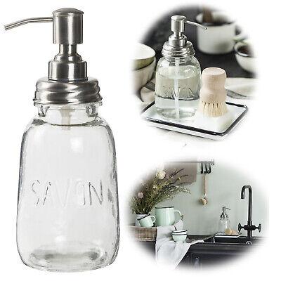 Glas Seifenspender 500ml Flüssigseifen-Spender Lotionspender Seifendosierer