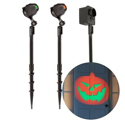 Philips 2 Ct Halloween Pumpkin LED Focusable Projectors Motion Activated Sound - Motion Activated Halloween Pumpkin