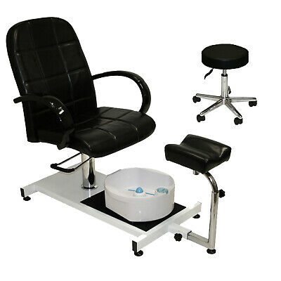Pedicure Unit Station Hydraulic Chair & Massage Foot Spa Beauty Salon Equipment Foot Spa Chair