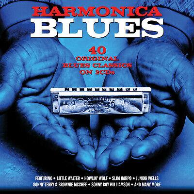 HARMONICA BLUES - MUDDY WATERS HOWLIN' WOLF JUNIOR WELLS - 2 CDS - NEW!!