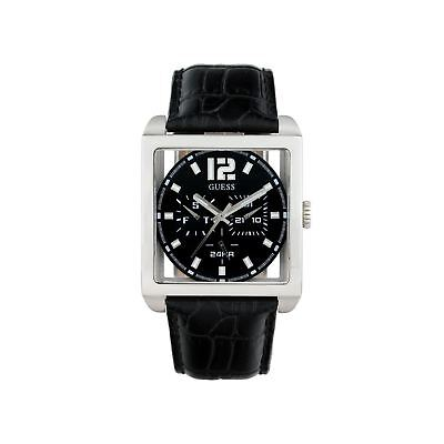 Guess Mens Designer Watch RRP £175 - Sale Price - Square Day Date - (Guess Men Sale)