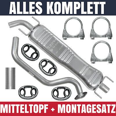 Mitteltopf Mittelschalldämpfer Opel Zafira A I 1 99-05 2.0 DI 2.0 DTI 2.2 DTI