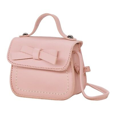 Small Fashion Purse for Little Girls Light Pink Toddler Kids Bag Cute Bow  - Bags For Kids