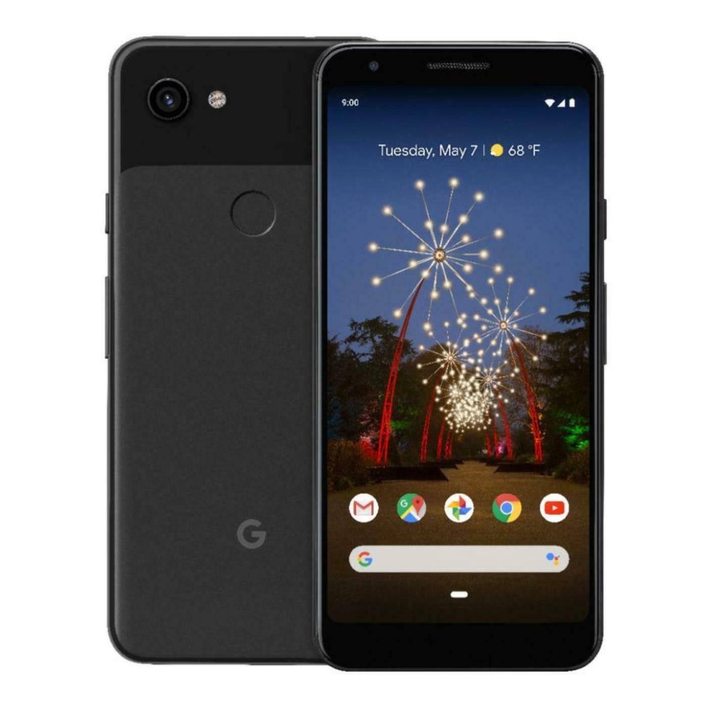 Android Phone - Unlocked - Google Pixel 3A - 64GB - Black - Smartphone
