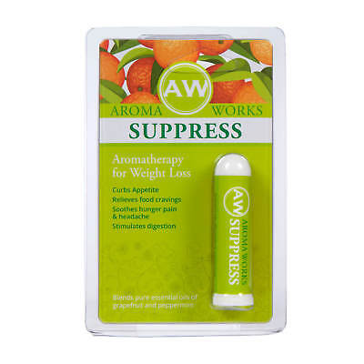 Aromaworks Aromatherapy Suppress Pocket Inhaler Appetite Control