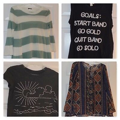 WOMENS Clothes lot XS-Small T-shirt Top Banana Rep, Abercrombie, J Crew+ x 6