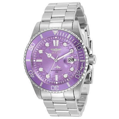 Invicta Women's Watch Pro Diver Purple Dial Stainless Steel Bracelet 32053
