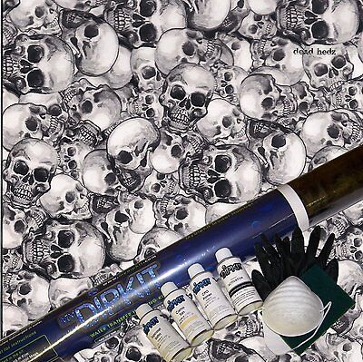 Hydrographics Dip Kit Activator Water Transfer Print Skull Hydro Dip Ll-801